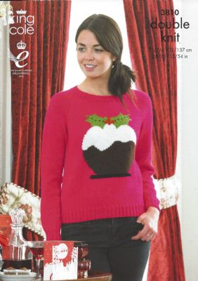 King Cole - 3810 DK Christmas Sweaters Knitting Pattern